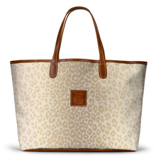 Load image into Gallery viewer, Leather St. Anne's Tote Blonde Animal Print