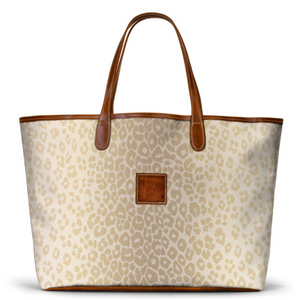 Leather St. Anne's Tote Blonde Animal Print