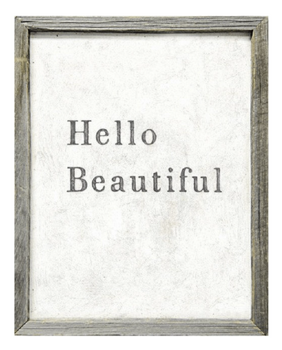 Hello Beautiful Framed Art Print Paper Twist Charlotte