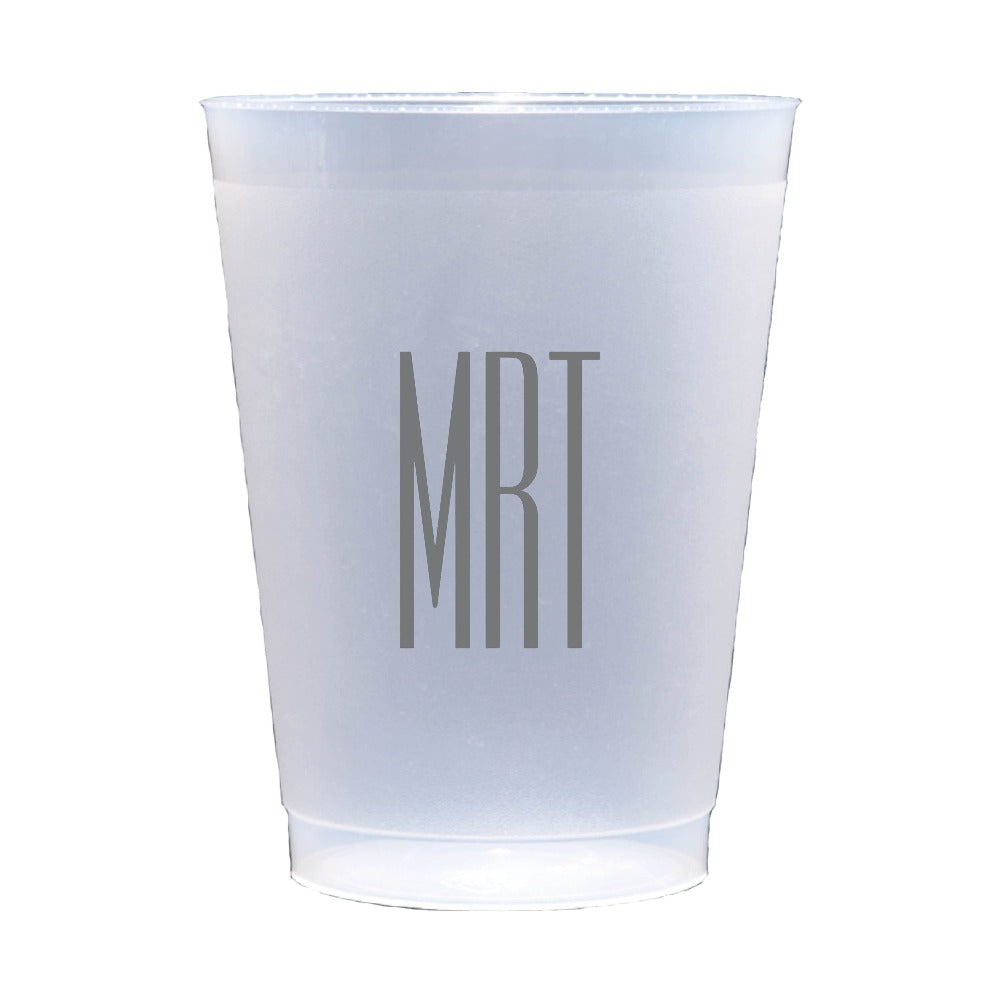 Personalized Reusable Plastic Cup Monogram Party
