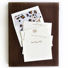 Load image into Gallery viewer, Letterpress Grand Silk Stationery 116