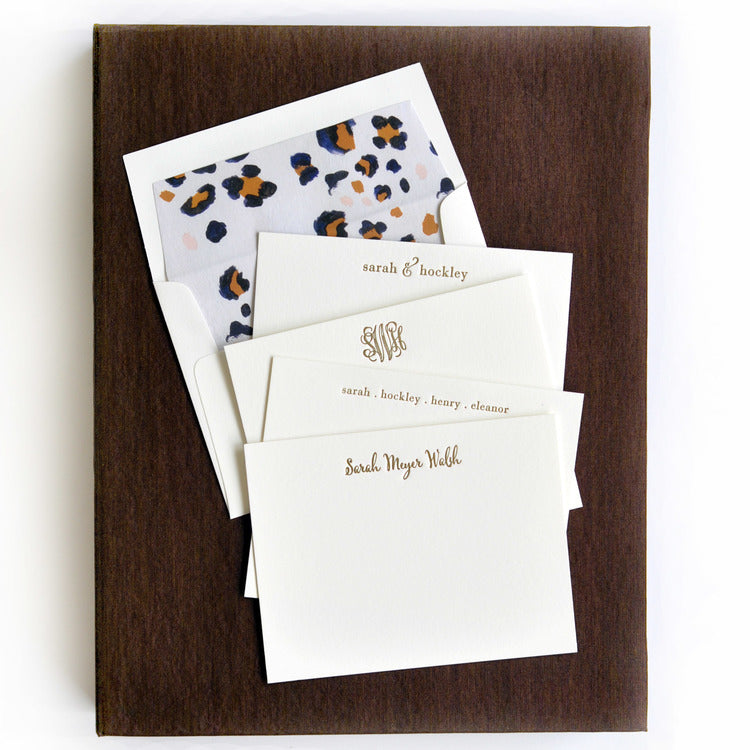 Letterpress Grand Silk Stationery 116