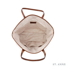 Load image into Gallery viewer, Leather St. Anne's Tote Blue Tile