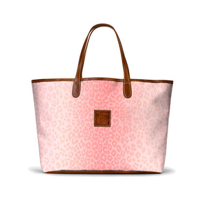 Leather St. Anne's Tote Pink Animal Print