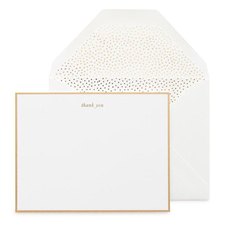 Gold Thank You Notes. Shop stationery at paper twist in charlotte