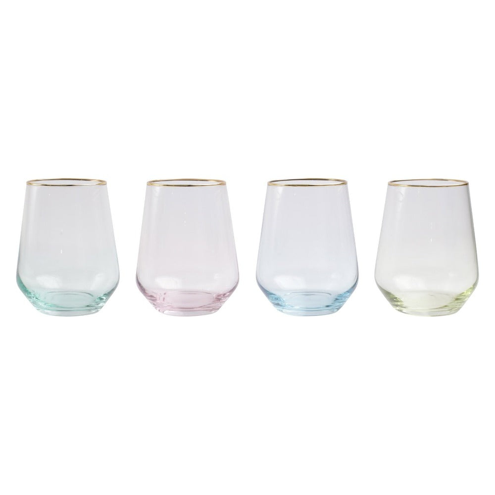 Stemless Glasses Rainbow