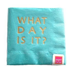 What Day Is It Napkins