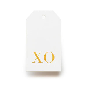 Gift Tag Gold XO