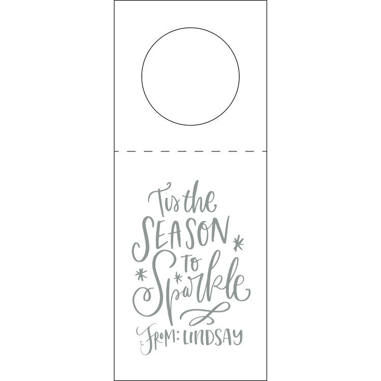 Letterpress Wine Tag Holiday 2