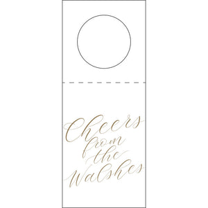 Cheers Bottle Tag Personalized Letterpress Shop Small Charlotte