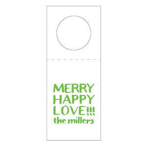 Letterpress Wine Tag Holiday 4