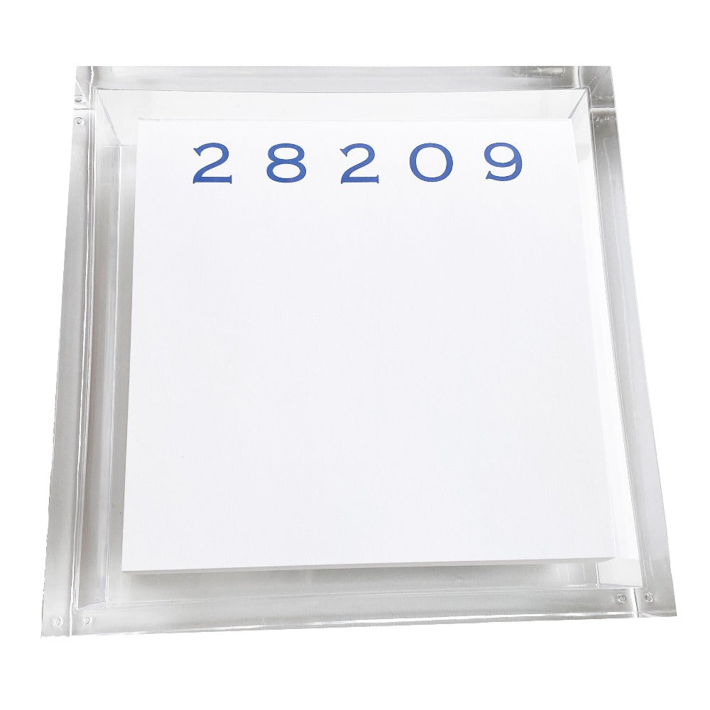 Custom Zip Code Number Notepad