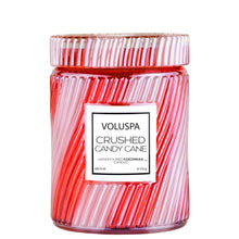 Load image into Gallery viewer, candy cane holiday christmas xmas candle red stripe charlotte papertwist