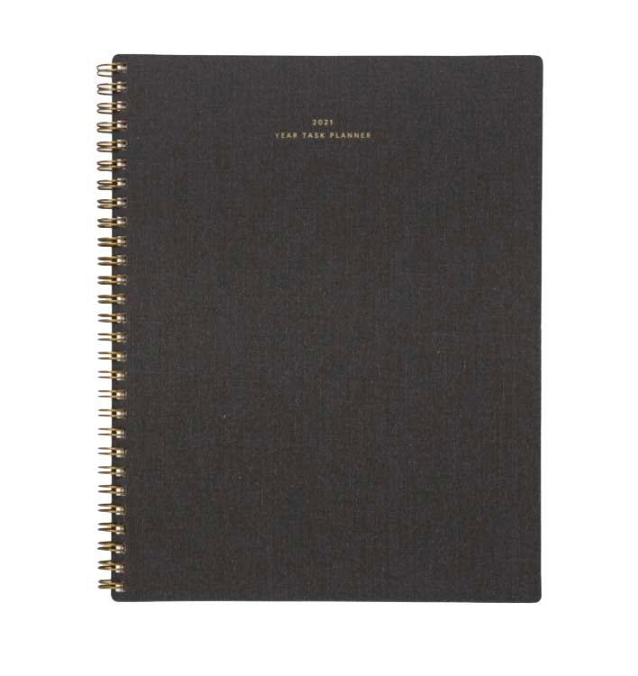 Year Task Planner Charcoal Gray