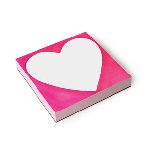 Pink Heart Notepad.