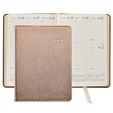 Load image into Gallery viewer, Leather Calendar Agenda Personalized