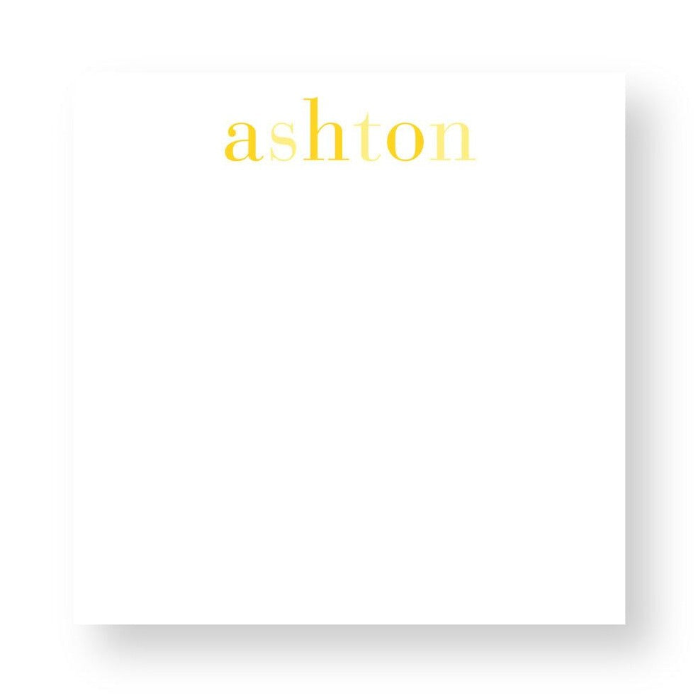 Custom Notepad Yellow Rainbow