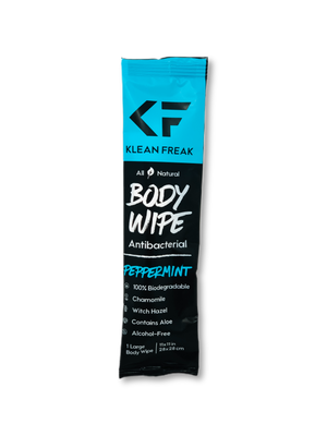 Peppermint Scented Body Wipe - 12 Pack
