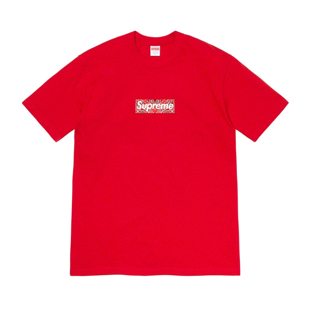 Supreme Bandanna Box Logo Tee Red