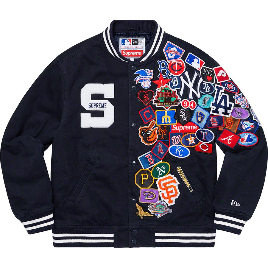 Supreme/MLB Varsity Jacket Navy