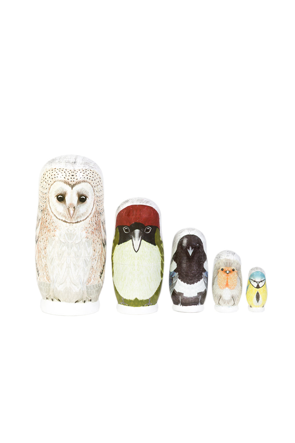 Decorative nesting dolls | British birds| Marmalade Lion