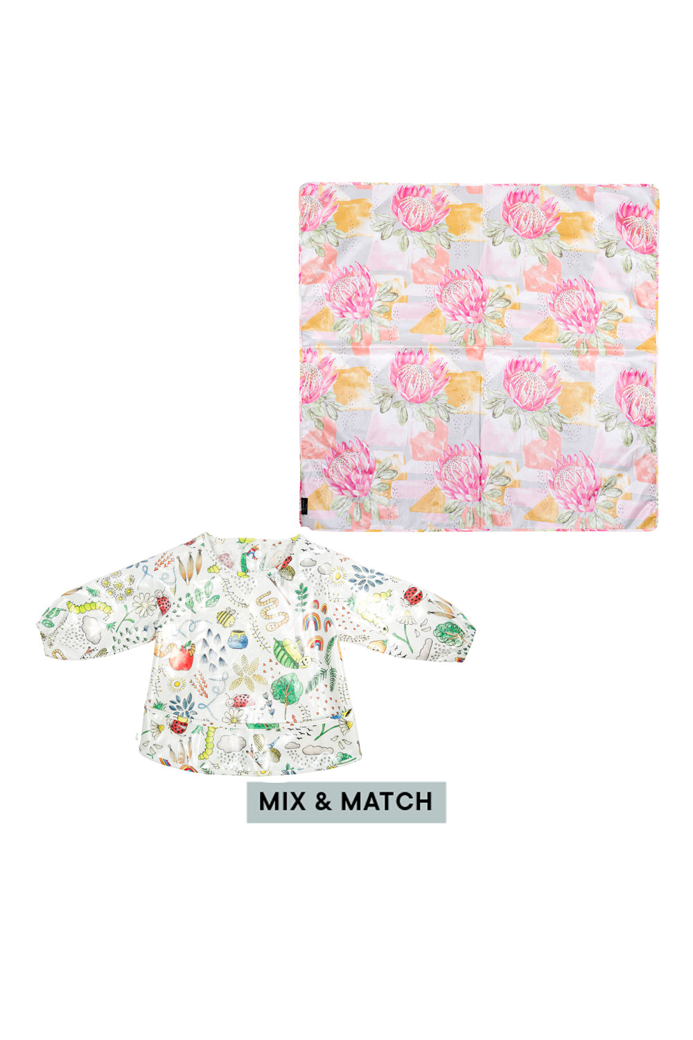 Long Sleeve Feeding Bib & Splat Mat (Save £5)