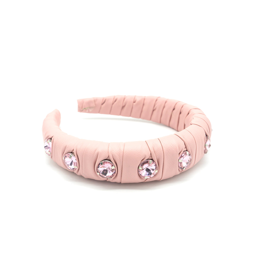 pink headband embellished