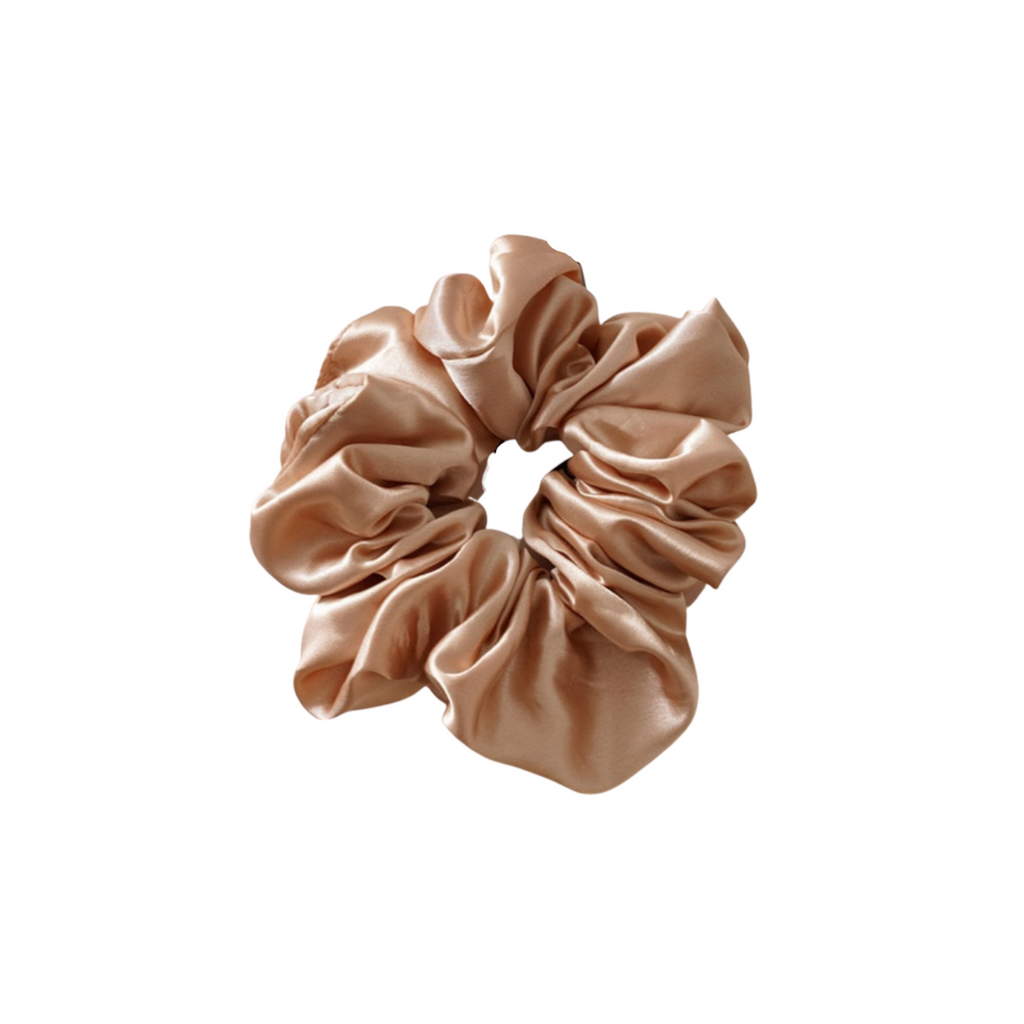 The Silk Beige Cloud Scrunchie
