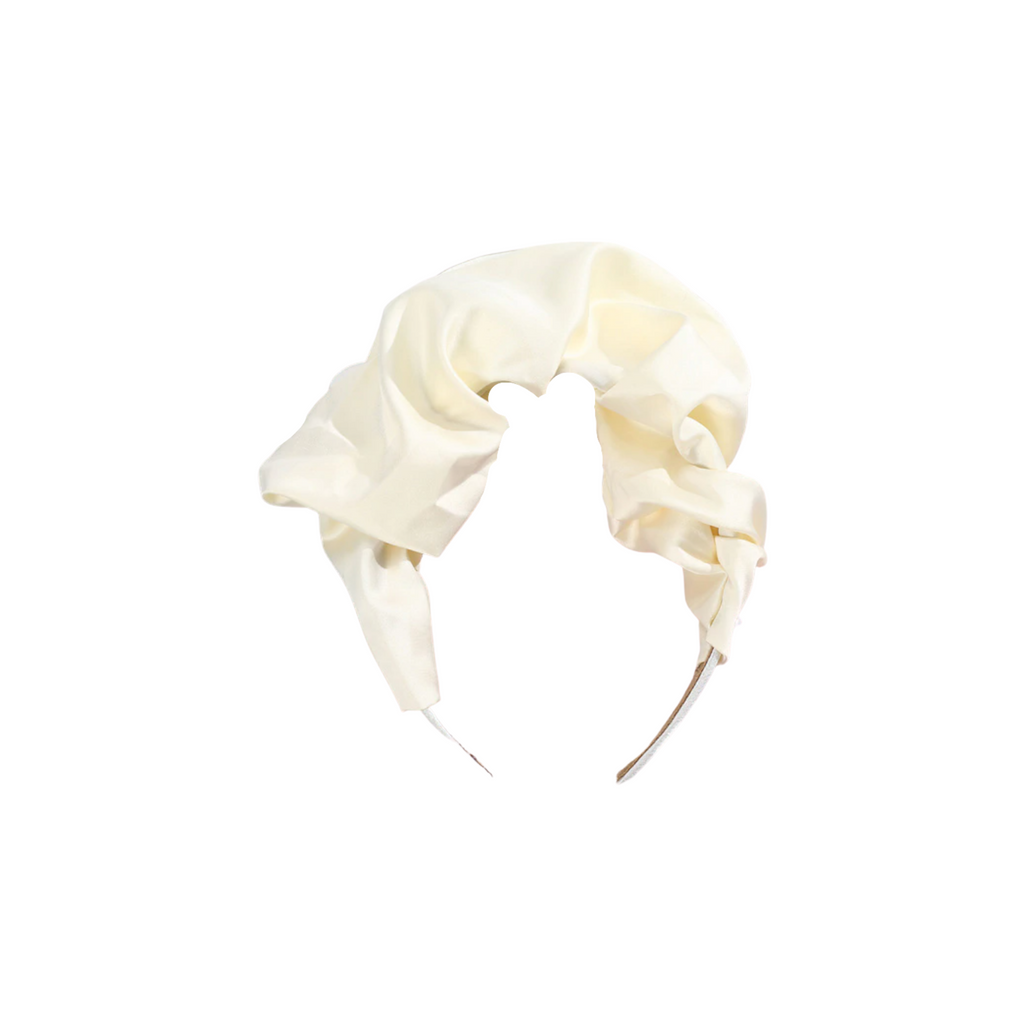 Bruna Ivory Satin Headband