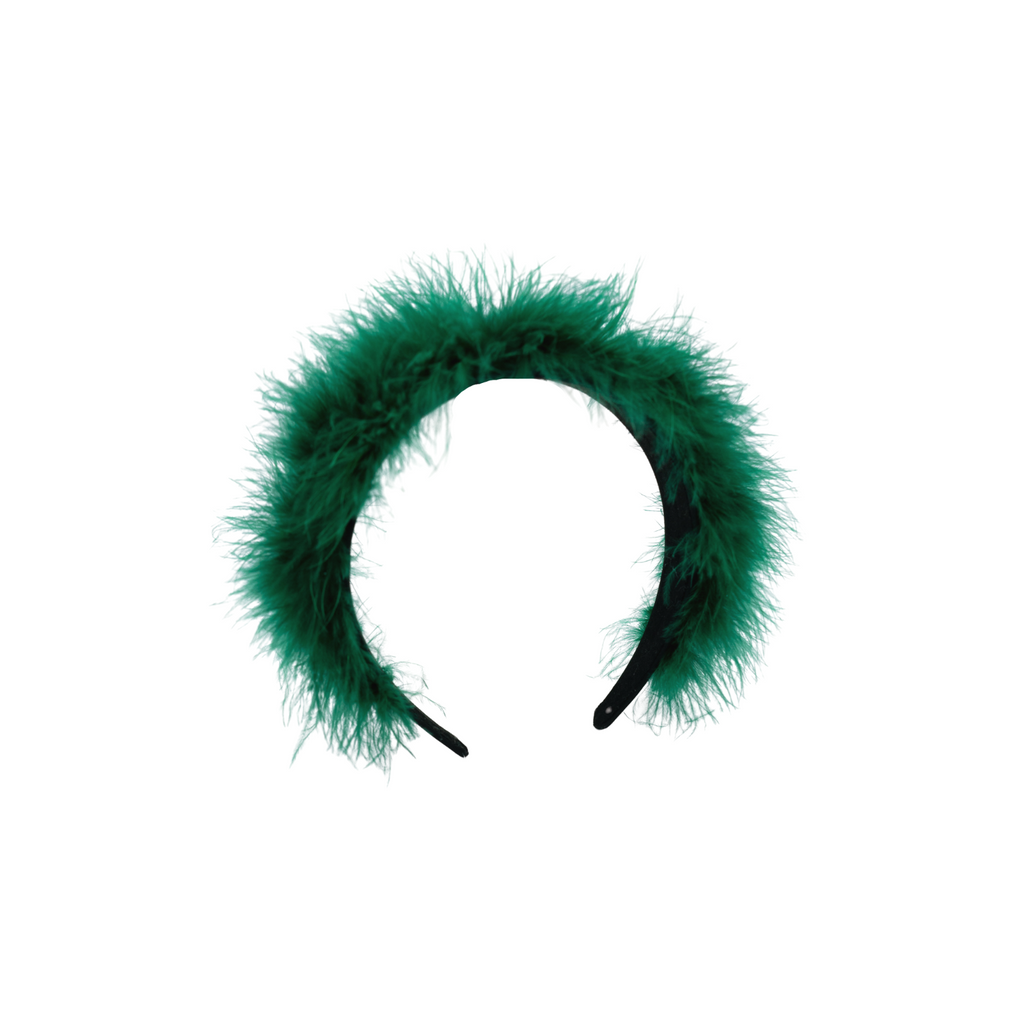 Roan Feather Green Headband