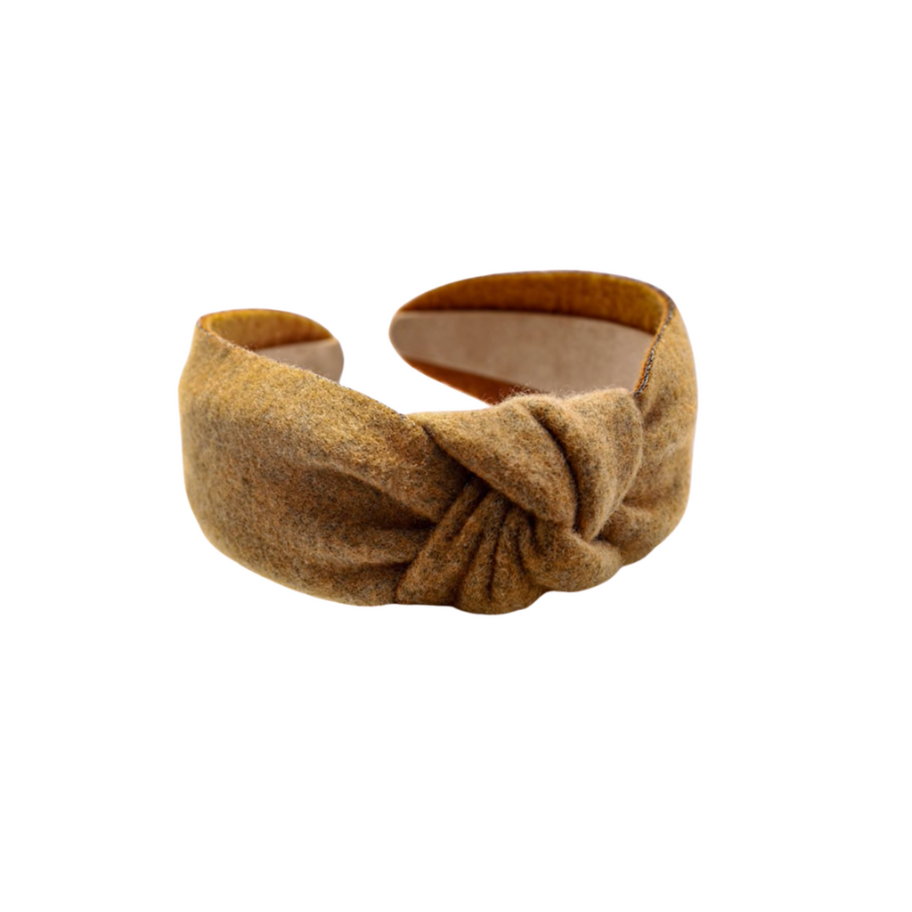 Brown Flannel Headband