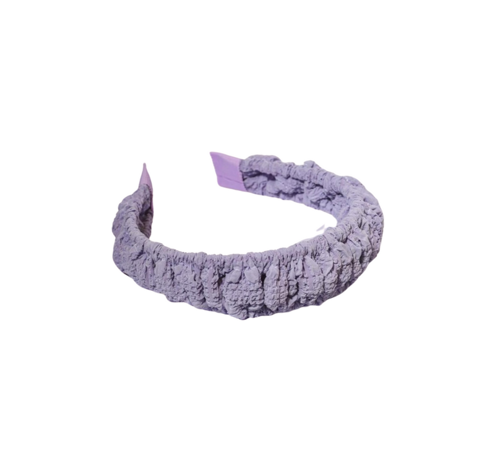 Lucette Lilac Ruched  Headband