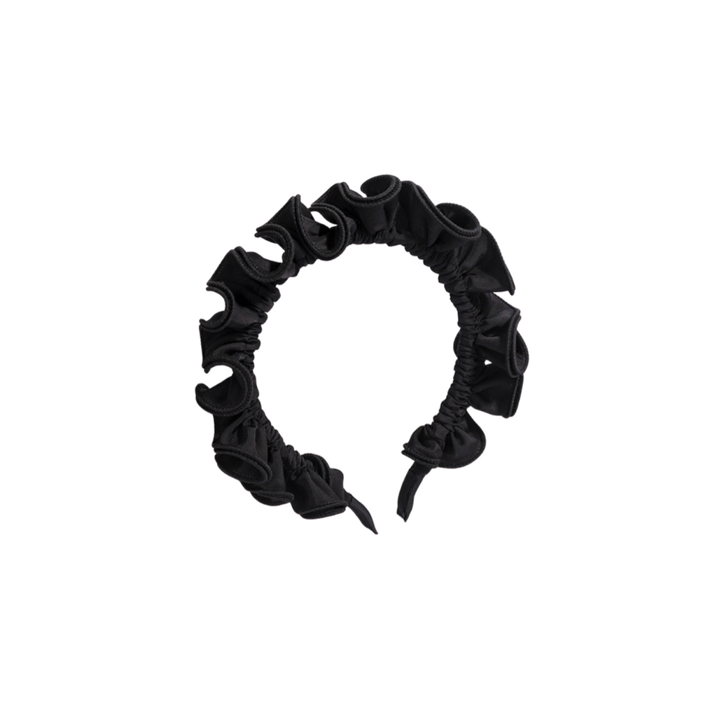Roberta Black Ruffled Headband