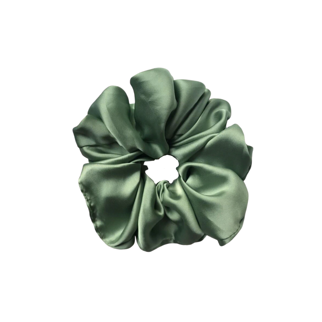 The Silk Green Cloud Scrunchie