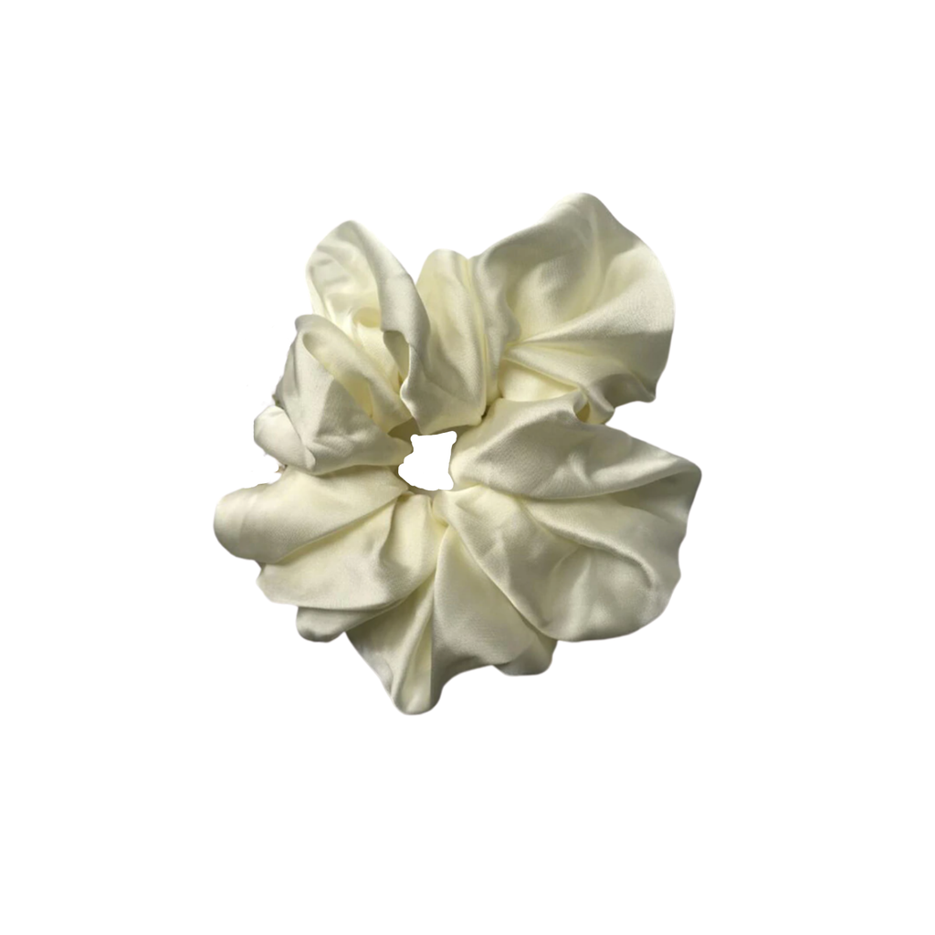 The Silk White Cloud Scrunchie