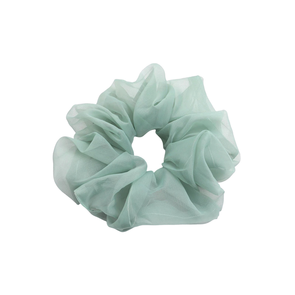Organza Green Scrunchie