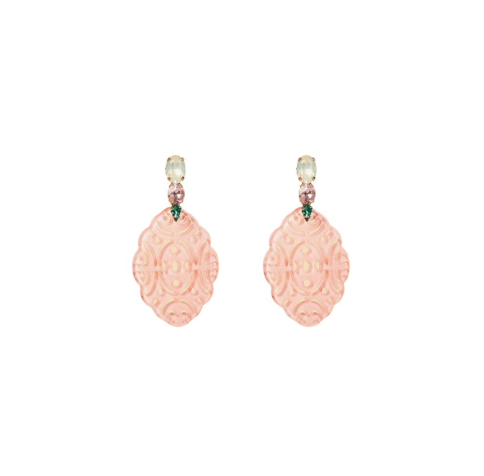 Rita Pink Resin Earrings