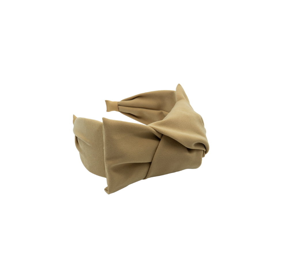 Apoline Beige Big Bow Headband