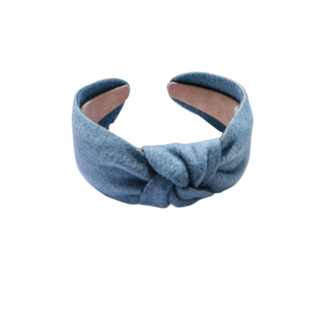Blue Flannel Headband