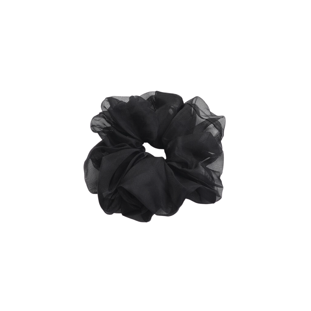 Organza Black Scrunchie