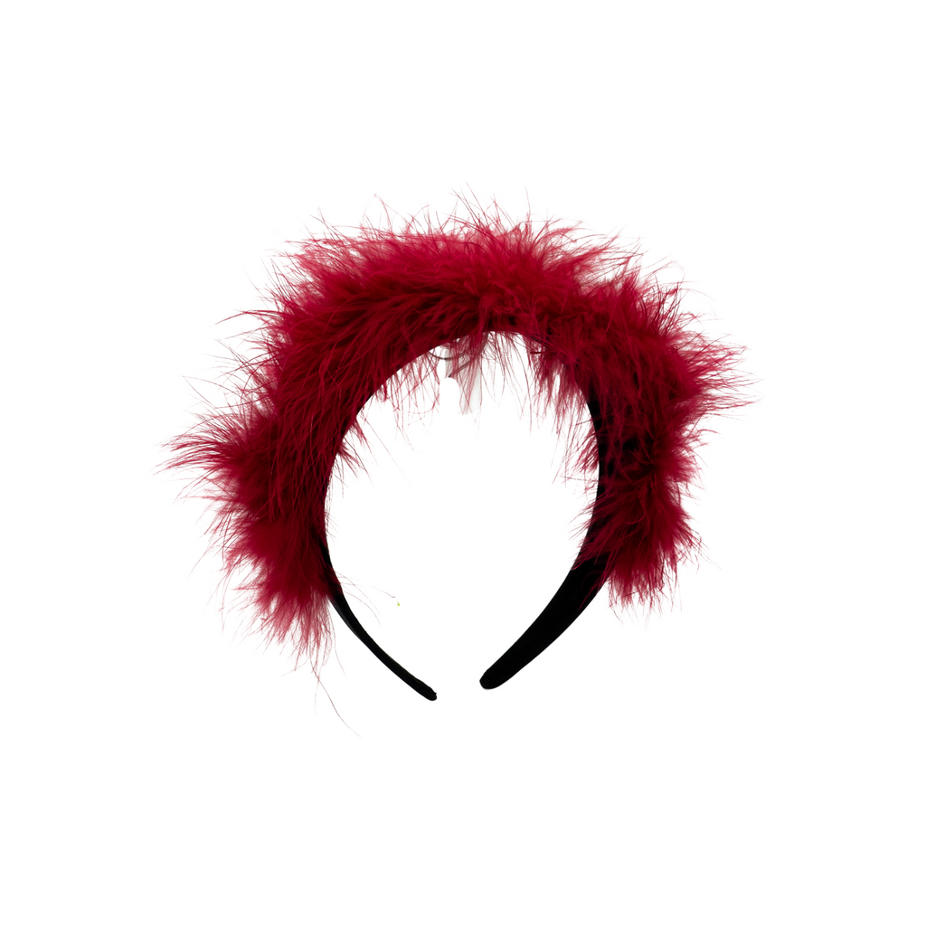 Roan Feather Red Headband
