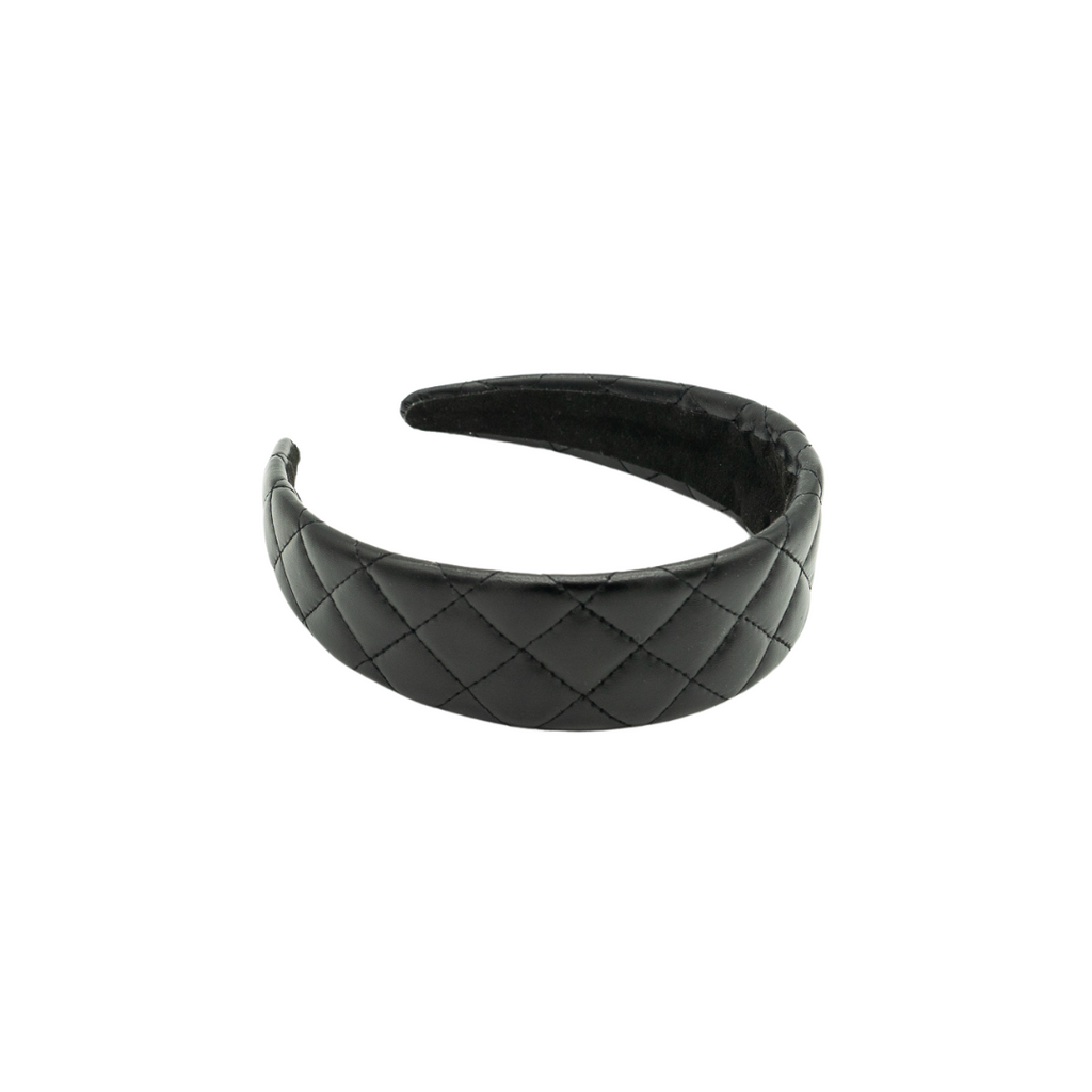 Daphne Quilted Faux Leather Headband