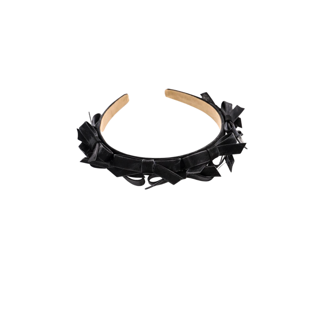 Seraphina Bow Leather Headband