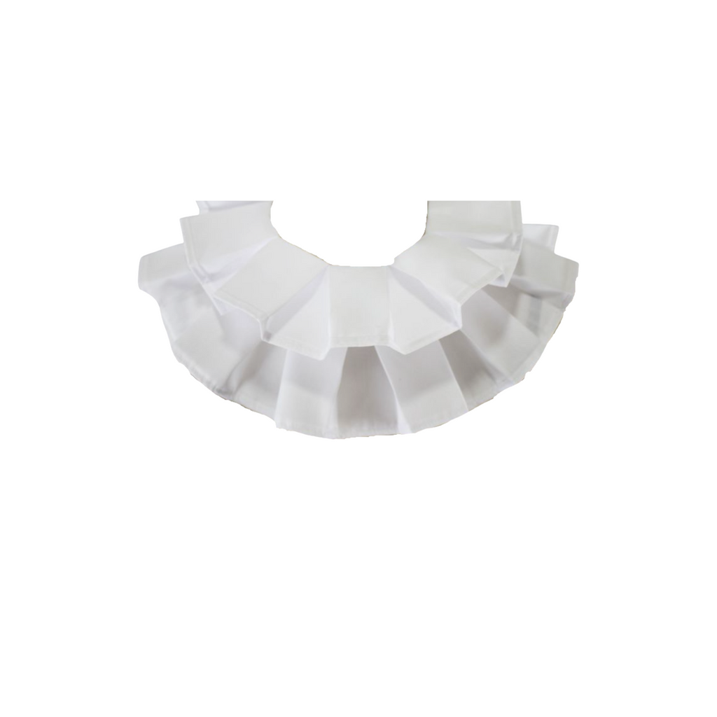 Anne Pleated White Detachable Collar