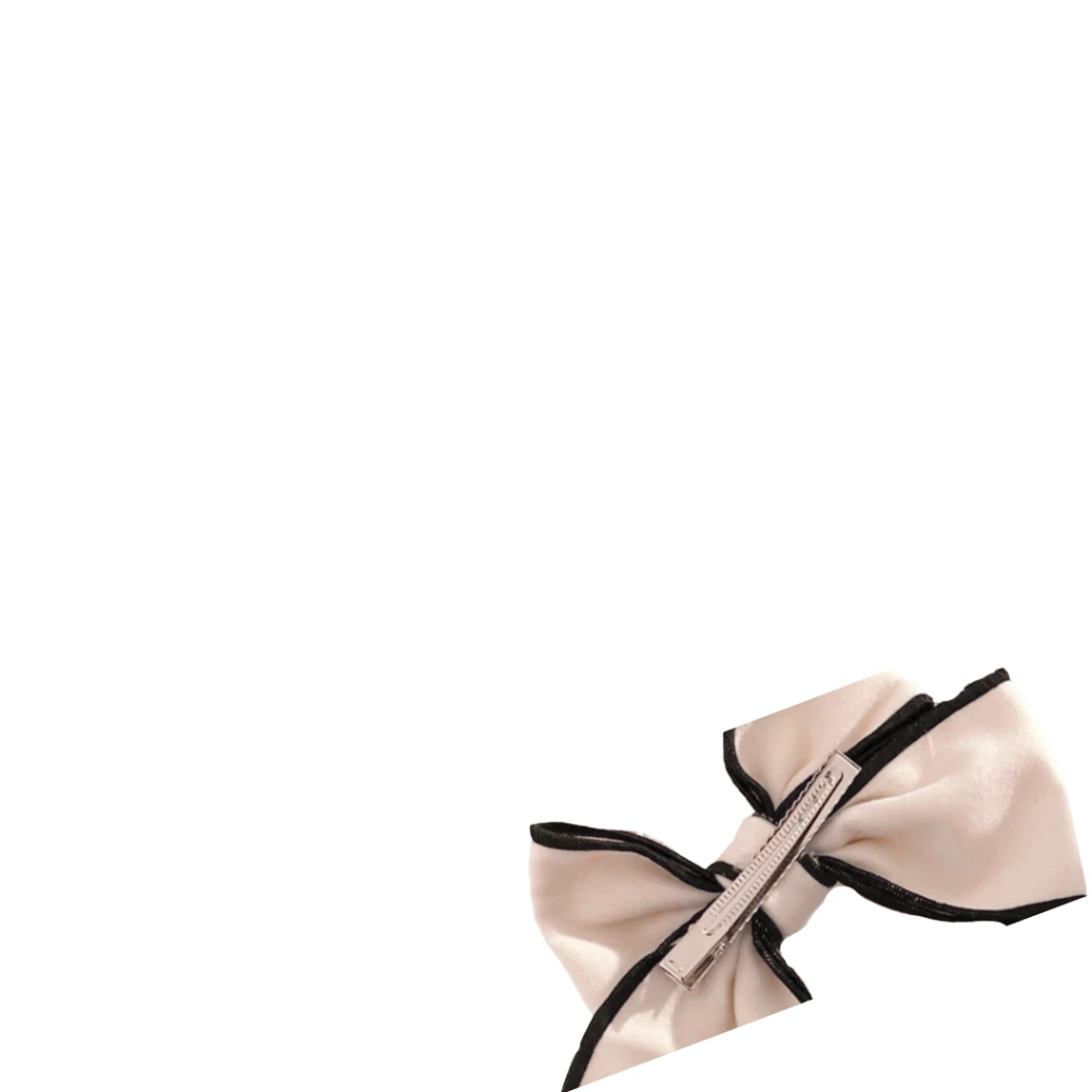 Aveline Flannel Bow hair clip