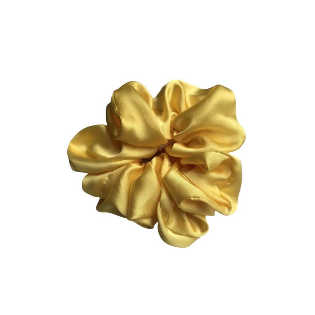 The Silk Yellow Cloud Scrunchie