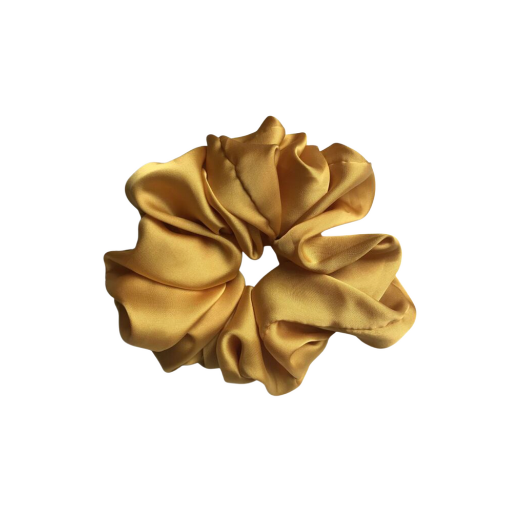 The Silk Mustard Cloud Scrunchie