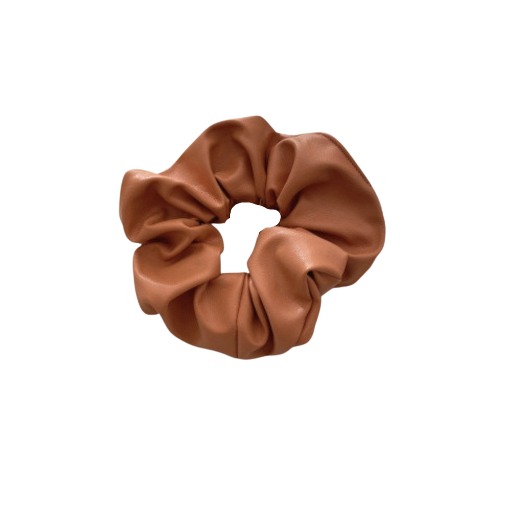 The Terracotta Leather Scrunchie