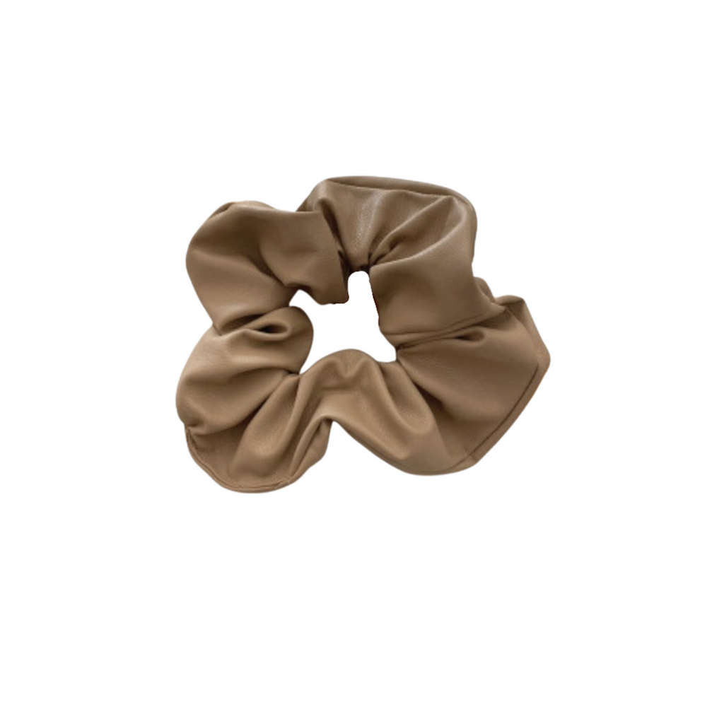The Taupe Leather Scrunchie