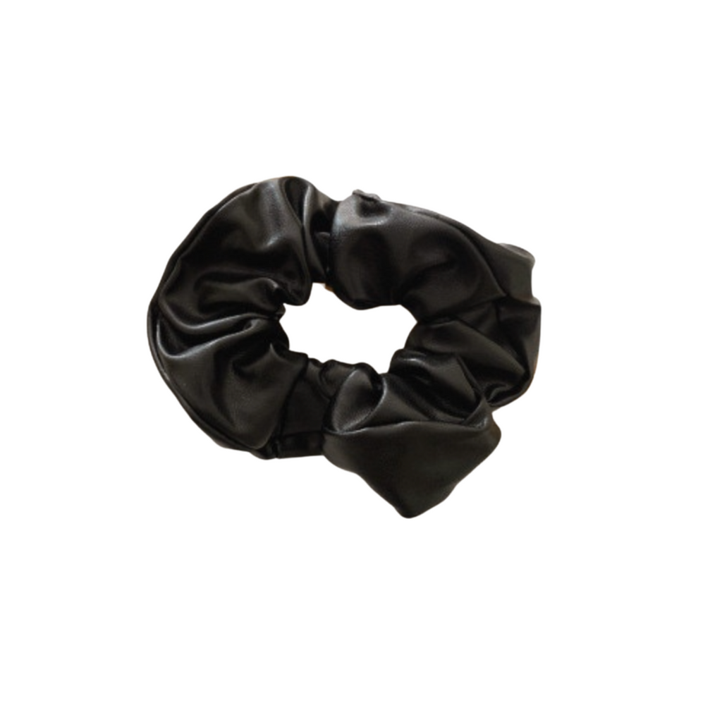 The Black Leather Scrunchie